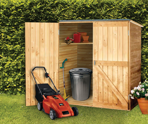 Outdoor Wood Storage Shed - Diamond Resource in Bedford NH